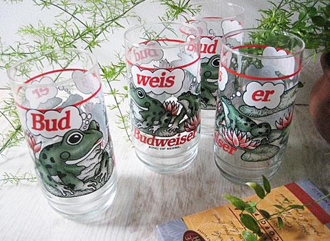 Vintage Budweiser Frogs Glass Tumbler