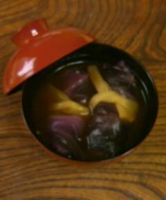 赤玉菜飯の澄まし汁15