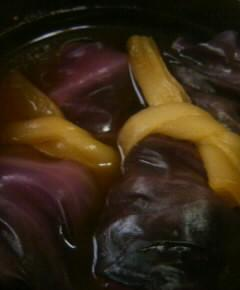 赤玉菜飯の澄まし汁16