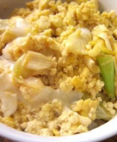 豆腐の親子丼7