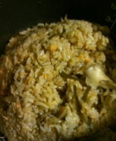 鮭とごぼうの炊き込みご飯10