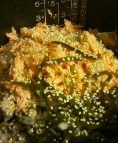 鮭とごぼうの炊き込みご飯9