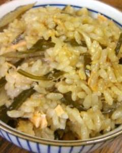 鮭とごぼうの炊き込みご飯12