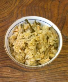 鮭とごぼうの炊き込みご飯11