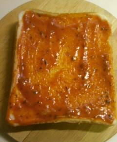 ピザトーストのシャンチョビ味3