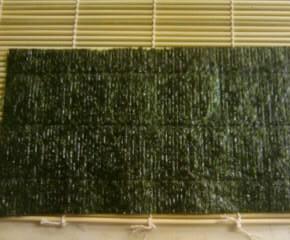 アジと大葉の海苔巻き5