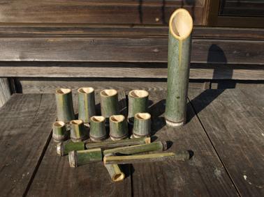 残った竹で作った