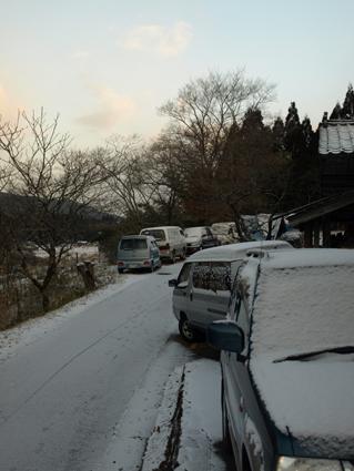 2当日雪の朝