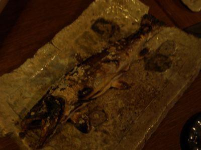 7岩魚塩焼き