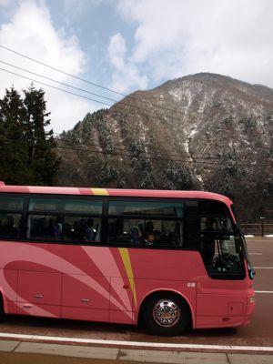 1ピンクのバス