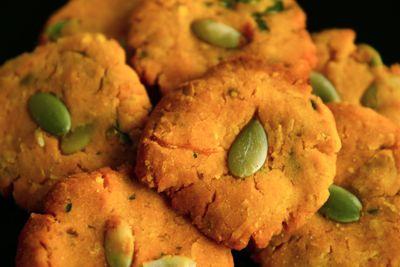 5カボチャの米粉クッキー