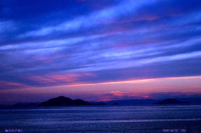 西浜の夕暮れ