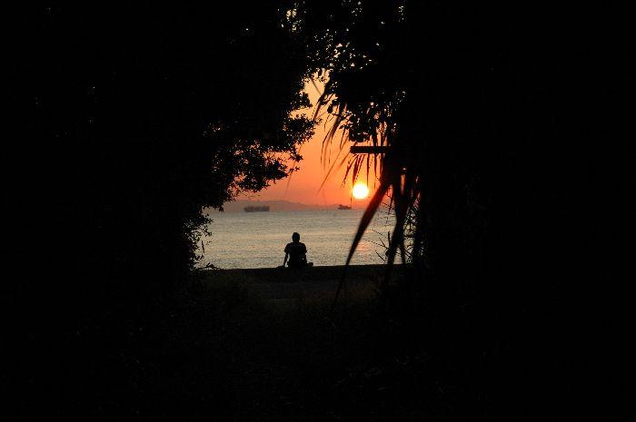 西浜の夕景 017