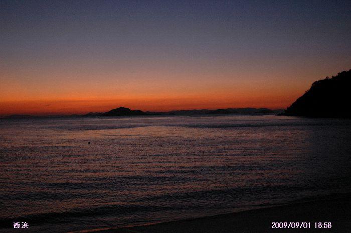 西浜の夕景 037