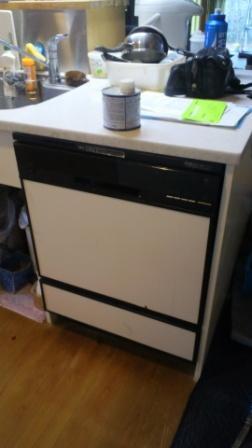 ビフォー 既存のビルトイン食器洗い乾燥機