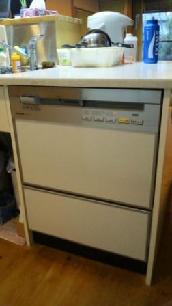 アフター W600のビルトイン食器洗い乾燥機の完成です。