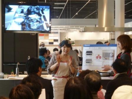 IHのお料理教室 トリプルIHの体験がありました。