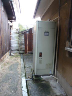 ビフォー 落し込み専用電気温水器