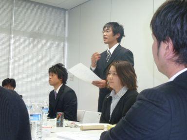 浅田君個人研鑽目標の発表