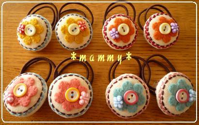 2010.5 お花と蝶々のゴム1