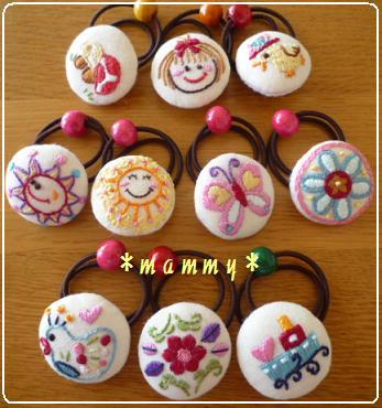 刺繍のヘアゴム 01