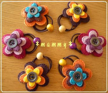 花のヘアゴム 01