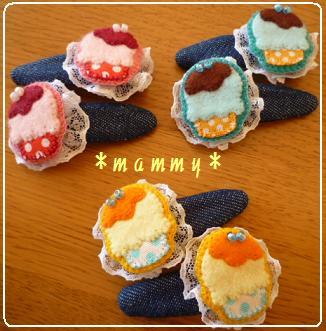 カップケーキヘアピン 01