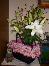 お花がカゴに!