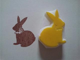 ウサギシルエット