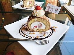 ドッグ・カフェのケーキ