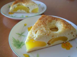 黄桃のクラフティ2