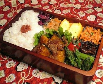 牛肉と南瓜の甘辛炒め