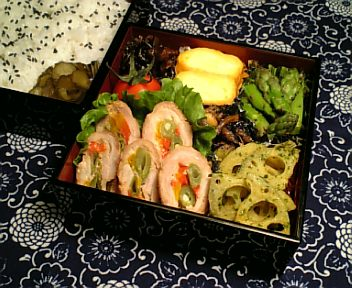 豚肉の3色野菜巻き