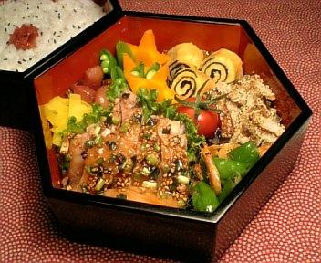 鶏肉の浅葱&胡麻照り焼き