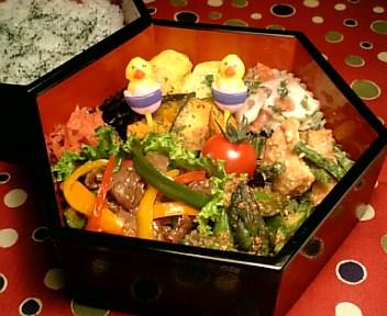 4色パプリカの青椒牛肉絲