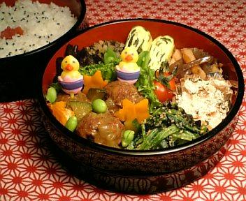 肉団子の夏野菜カレー風味