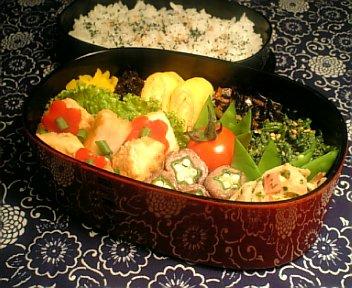 かじき鮪と野菜の焼きびたし