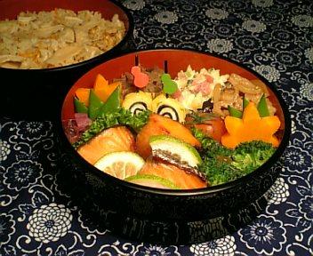 松茸ご飯&鱒の味噌漬2