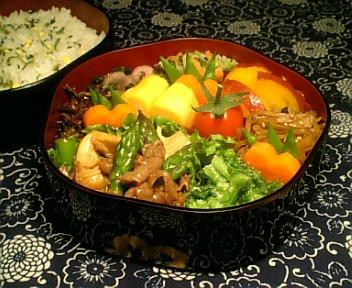 牛肉と春野菜の中華風炒め