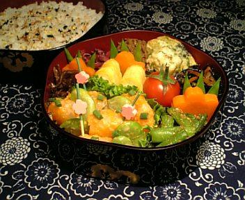 海老と蚕豆のオーロラ炒め