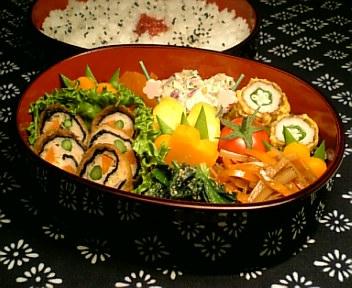油揚げと鶏挽肉の海苔ロール