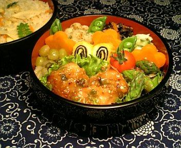 かじき鮪の葱胡麻味噌焼き