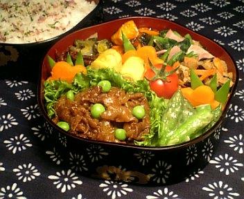 牛肉と新玉葱のピリ辛BBQ