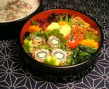 豚肉の海苔&オクラ巻き天麩羅