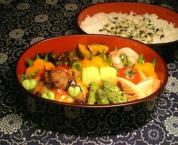 肉団子と揚げ野菜の黒酢炒め