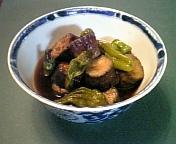 茄子と宝楽ししとうの甘辛煮1