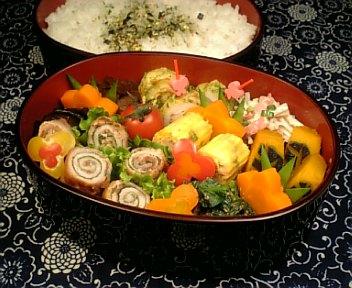 豚肉の梅味噌大葉ロール焼き