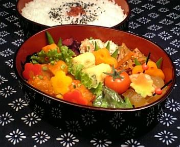 豚肉と長芋のチリケチャ炒め
