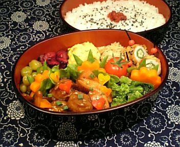 肉団子と穂先筍の黒酢炒め2