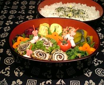 豚肉の梅紫蘇海苔巻き天ぷら